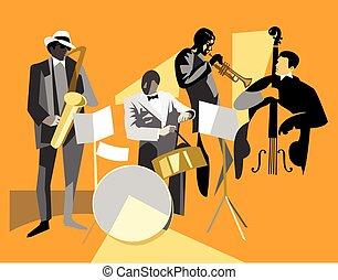 musiciens, jazz