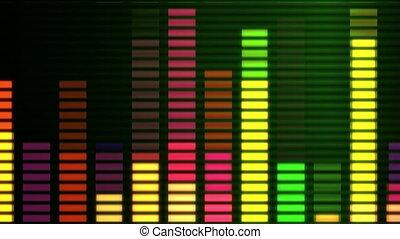 musique, égaliseur graphique