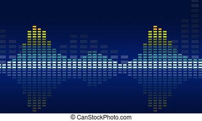musique, animé, meters., 4k, loop-able, seamless, vu, vendange
