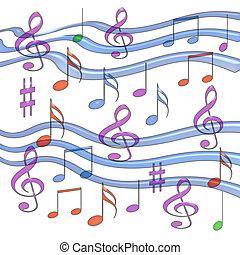 musique, coloré