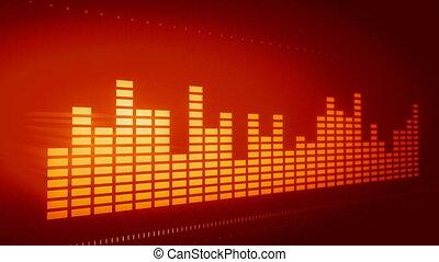 musique, compensateur, graphique