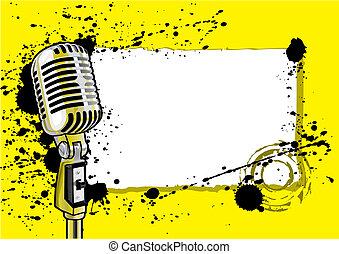musique, conception, événement, (vector)