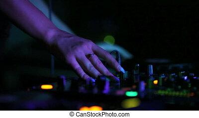 musique, dj, jouer, boîte nuit