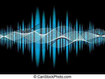 musique, equaliser, vague