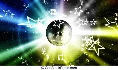 musique, fête, fond, faire boucle