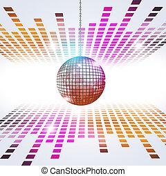 musique, fond, disco