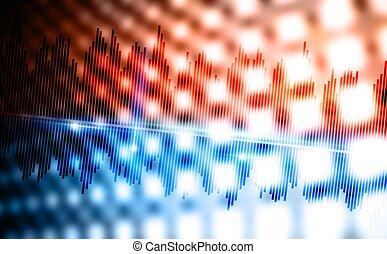 musique, fond, vagues