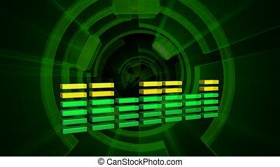 musique, forme onde