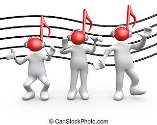 musique, gens