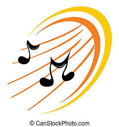 musique, icône