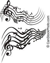 musique, illustration., vecteur, theme.