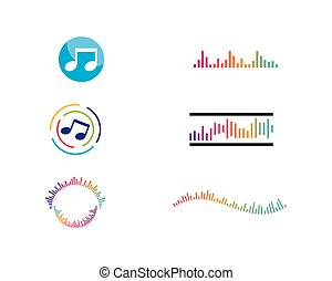 musique, logo, vecteur