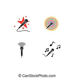 musique, microphone, logo