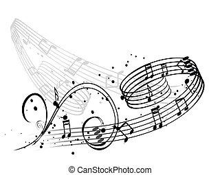musique note, fond