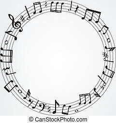 musique note, frontière