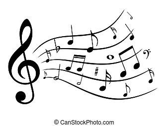 musique, notes.