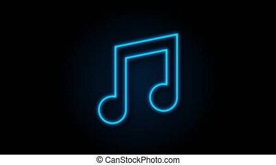 musique, plat, icône, icon., enregistrement, graphics., musique, voix, mouvement, style.
