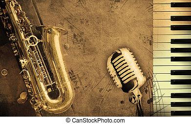 musique, sale, fond