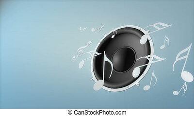 musique, speaker.