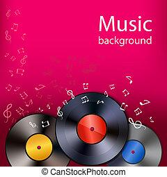 musique, vinyle, fond