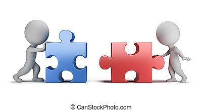 mutuel, gens, -, relations, petit, 3d