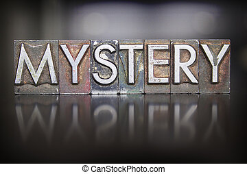 mystère, letterpress