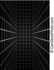 mystère, noir, lignes, salle, vertical