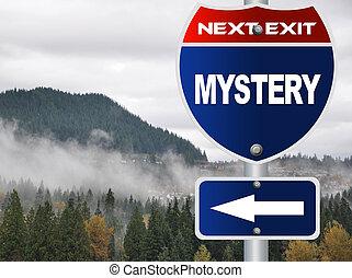 mystère, panneaux signalisations