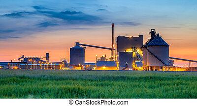 mystique, chimique, industriel, usine, détail