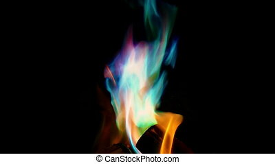 mystique, couleur, bas, brûler, sur, moule