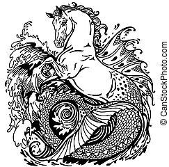 mythologique, hippocampe