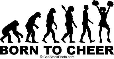 né, évolution, acclamation, cheerleader