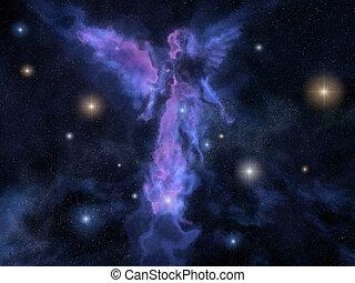 nébuleuse, ange, formé