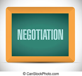 négociation, conseil message, illustration
