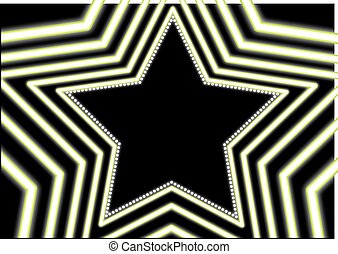 néon, étoile, fond