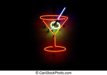 néon, cocktail