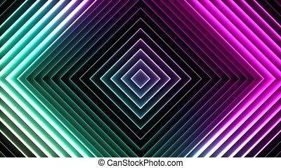 néon, résumé, seamless, squares., fond