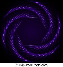 néon, ultra-violet, hexagones, retro, résumé, laser, fond