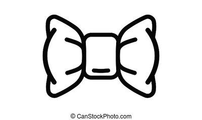 nœud papillon, animation, icône, mode