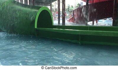 nager, gosses, pool., outdoors., girl, natation