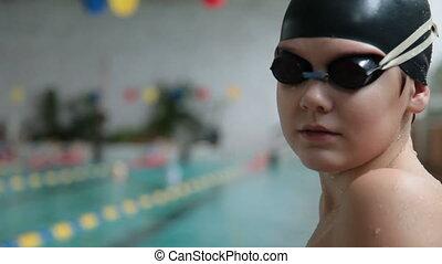 nageur, jeune