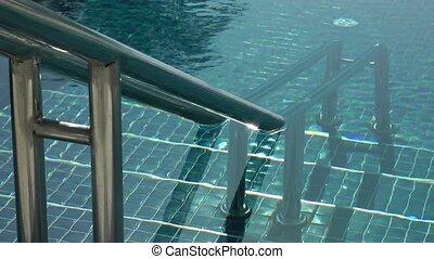 natation, échelle, piscine