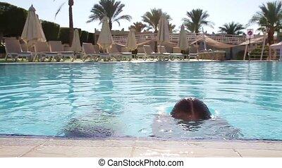natation, amusement, avoir, piscine, enfants