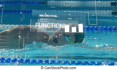 natation, nageur, piscine, traitement, mâle, données, contre