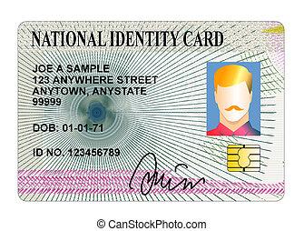 national, carte identification