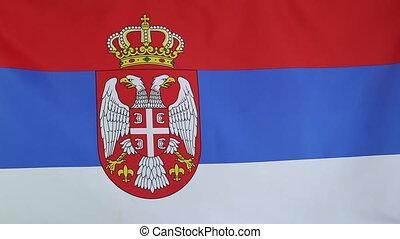 national, drapeau serbie