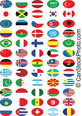 national, drapeaux, collection