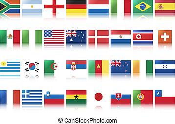 national, drapeaux, pays