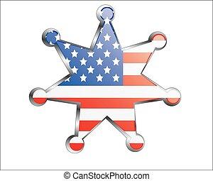 national, médaille, drapeau, usa