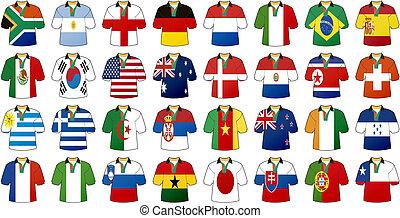 national, uniformes, drapeaux